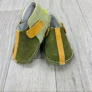 PIPIT suede stripe olive tan walker shoes